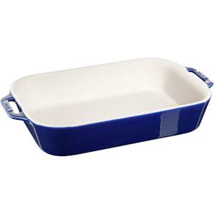 Staub Ceramic Rectangular Gratin Dish - 34cm x 24cm Dark Blue