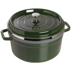 Staub Round Cocotte and Steamer - Basil - 26cm