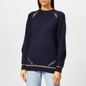 See By Chloé Women's Ladder Stitch Jumper - Eternity Blue