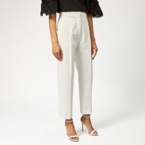 See By Chloé Women's Pleat Front Trousers - Crystal White