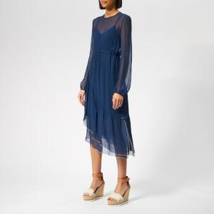 See By Chloé Women's Silk Midi Dress - Obscure Blue