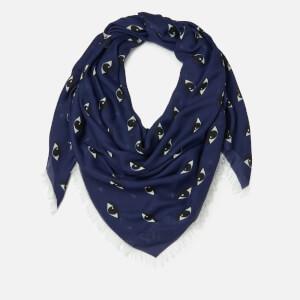 KENZO Women's Multi Eyes Square Scarf - Midnight Blue