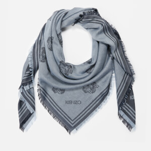 KENZO Women's Tiger Heads Carre Scarf - Anthracite