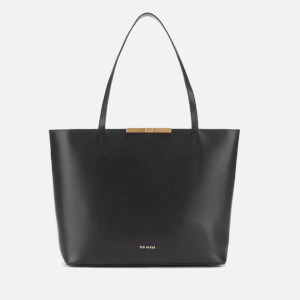 Ted Baker Women's Jackki Faceted Bow Mini Bark Shopper Bag - Black