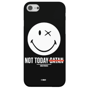 Smiley World Slogan Not Today Satan Phone Case for iPhone and Android