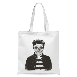 Balazs Solti Cool Skull Tote Bag - White