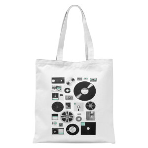 Florent Bodart Data Tote Bag - White