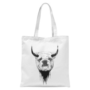 Balazs Solti English Bulldog Tote Bag - White