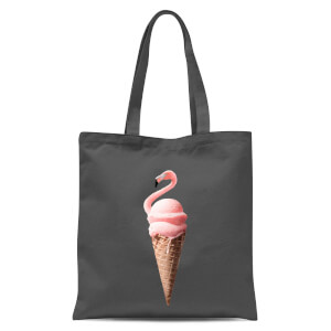 Jonas Loose Flamingo Ice Cream Tote Bag - Grey