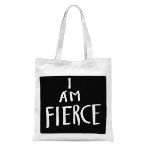 Rock On Ruby I Am Fierce Tote Bag - White