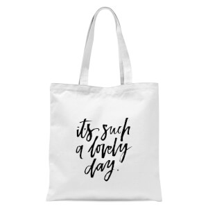 PlanetA444 It's Such A Lovely Day Tote Bag - White