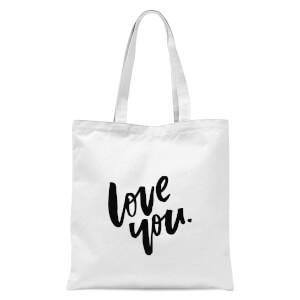 PlanetA444 Love You Tote Bag - White