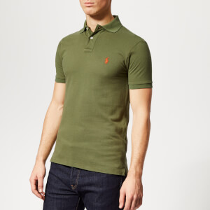 Polo Ralph Lauren Men's Slim Fit Mesh Polo Shirt - Supply Olive
