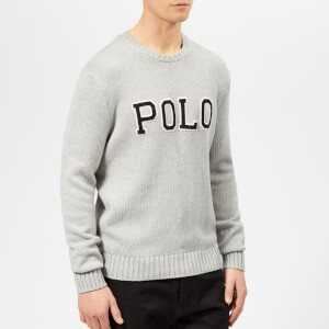 Polo Ralph Lauren Men's Logo Crew Neck Knitted Jumper - Andover Grey Heather