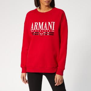 Armani Exchange Women's Logo Sweatshirt - Red