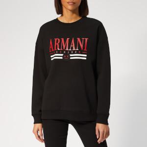Armani Exchange Women's Logo Sweatshirt - Black