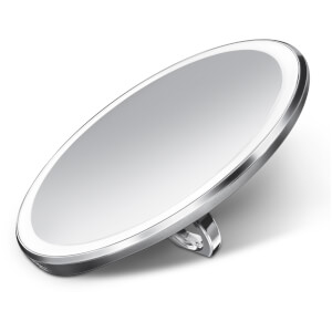 simplehuman Rechargeable Compact Sensor Mirror - Brushed Stainless Steel 10cm