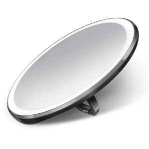 simplehuman Rechargeable Compact Sensor Mirror - Black 10cm