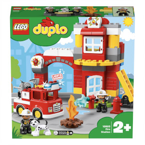 LEGO DUPLO Town: Fire Station Building Bricks Set (10903)
