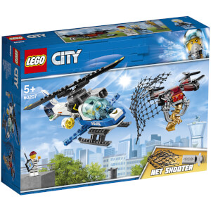 LEGO City: Sky Police Drone Chase with Helicopter Toy (60207)