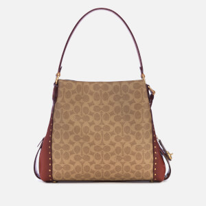 Coach Women's Coated Canvas Signature Edie 31 Shoulder Bag - Rust: Image 2