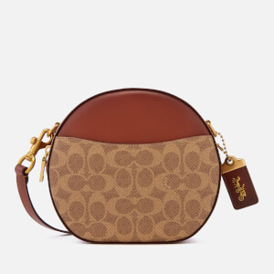 Coach Women's Coated Canvas Signature Canteen Cross Body Bag - Tan Rust