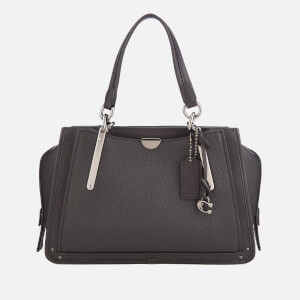 Coach Women's Mixed Leather with Pebble Dreamer Bag - Black