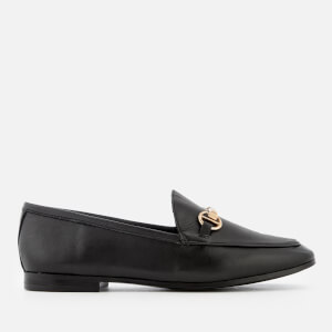 Dune Women's Guiltt Leather Loafers - Black