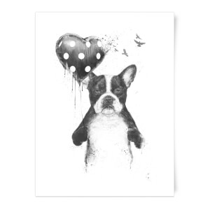 Balazs Solti Bulldog and Balloon Art Print