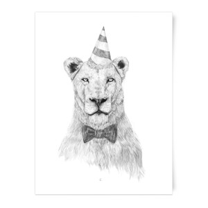 Party Lion Art Print