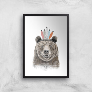 Balazs Solti Native Bear Art Print