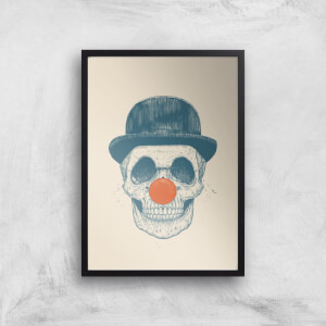 Balazs Solti Red Nosed Skull Art Print