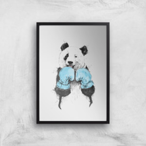 Balazs Solti Boxing Panda Art Print