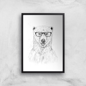 Balazs Solti Polar Bear and Glasses Art Print