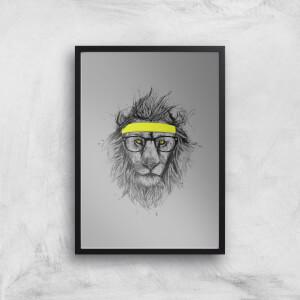 Balazs Solti Lion and Sweatband Art Print