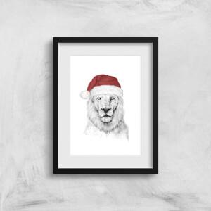 Balazs Solti Santa Bear Art Print