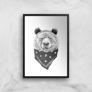 Balazs Solti Bandana Panda Art Print