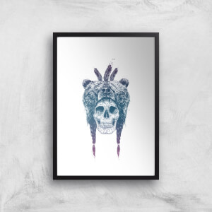 Balazs Solti Bear Head Art Print