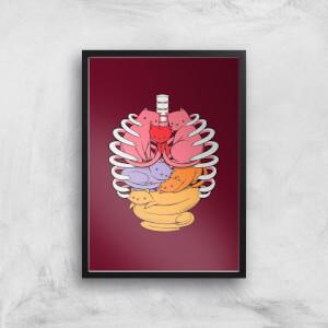 Tobias Fonseca Anotomicat Art Print