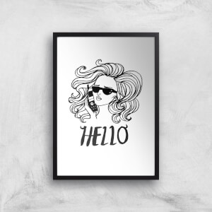 Rock On Ruby Hello Art Print