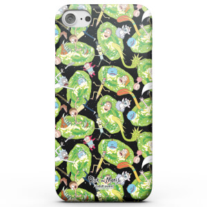 Funda Móvil Rick y Morty Portals Characters para iPhone y Android