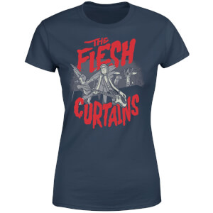 Camiseta Rick y Morty The Flesh Curtains - Mujer - Azul marino