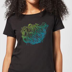 Rick and Morty Wubba Lubba Dub Dub Dames T-shirt - Zwart