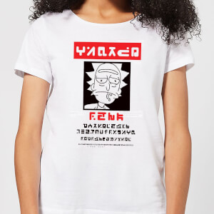 T-Shirt Femme Wanted Rick Rick et Morty - Blanc