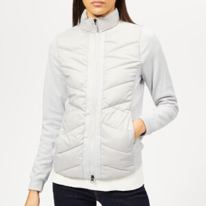 Barbour Women's Hirsel Sweat Jacket - Ice White