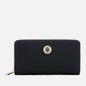 Tommy Hilfiger Women's Core Large Zip Around Wallet - Navy