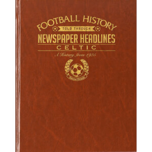 Celtic Football Newspaper Book - Brown Leatherette