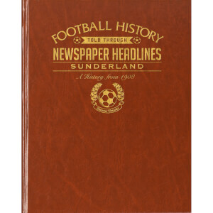 Sunderland Newspaper Book - Brown Leatherette