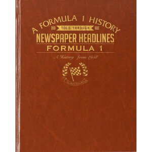 Formula One Newspaper Book - Brown Leatherette
