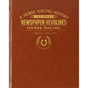 Horse Racing Newspaper Book - Brown Leatherette